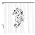 emma walters memories.seehorse. Shower Curtain