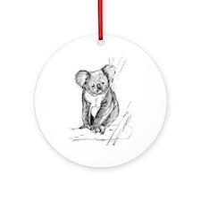 Koala Ornament (Round)