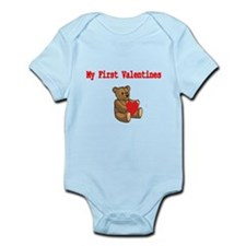 My First Valentines with Teddy Bear Body Suit