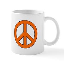 Orange Peace Sign Mug