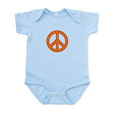 Orange Peace Sign Body Suit