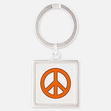 Orange Peace Sign Keychains