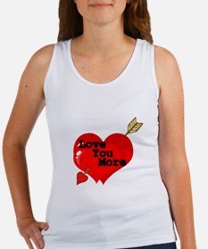 Love you more with double hearts Tank Top