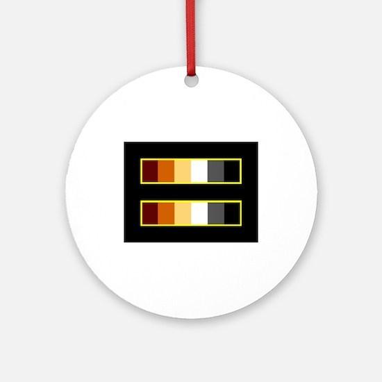 Equality Bear Black Ornament (Round)