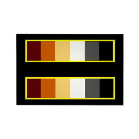 Equality Bear Black Rectangle Magnet