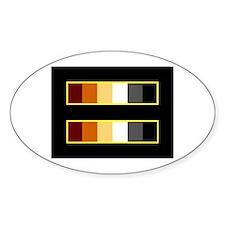 Equality Bear Black Oval Decal