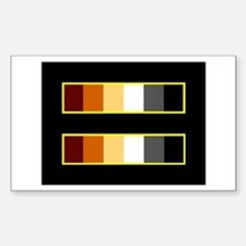 Equality Bear Black Rectangle Decal