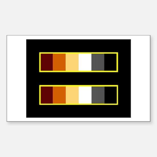 Equality Bear Black Rectangle Decal
