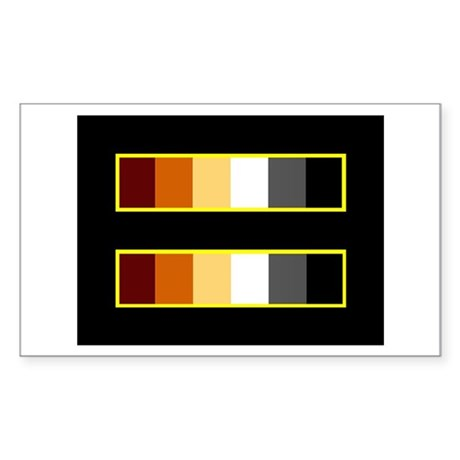 Equality Bear Black Rectangle Sticker