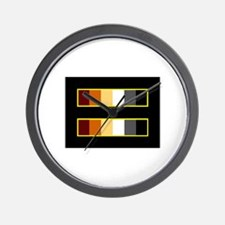 Equality Bear Black Wall Clock