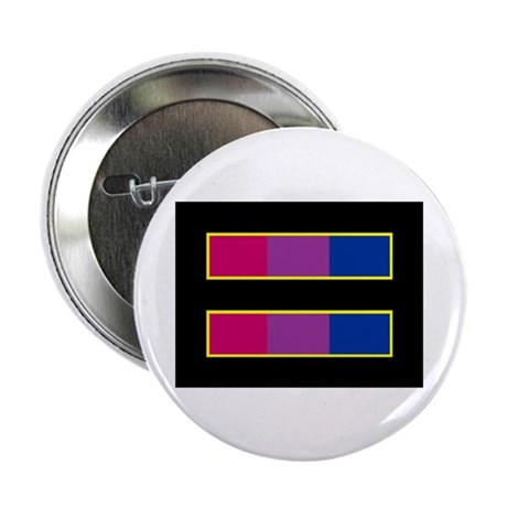 """Equality Bisexual Black 2.25"""" Button (100 pack)"""