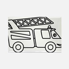 happy_firetruck Rectangle Magnet