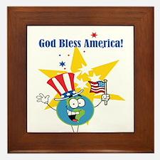 God Bless America Framed Tile