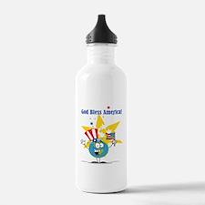 God Bless America Water Bottle