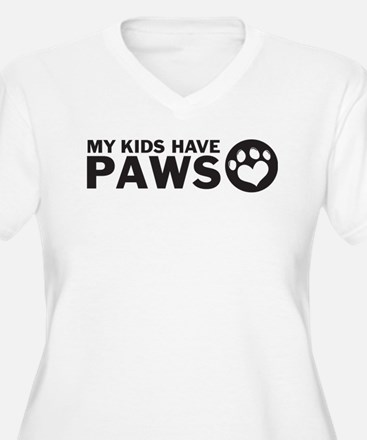 my kids have paws Plus Size T-Shirt