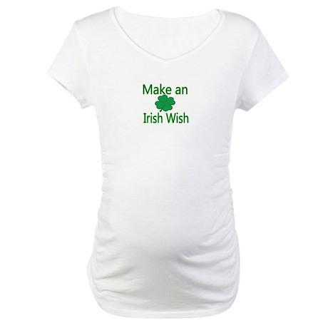 Make an Irish Wish Maternity T-Shirt