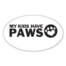 my kids have paws Decal