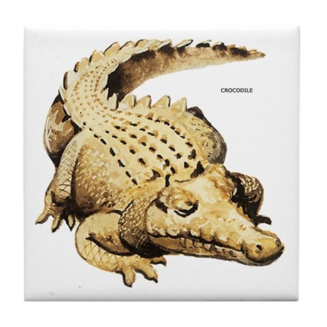 Crocodile Animal Tile Coaster By Animalartwork
