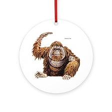 Orangutan Ape Ornament (Round)
