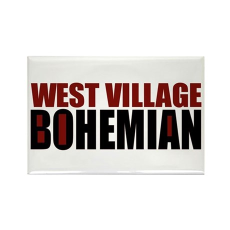 Greenwich Village Bohemian Rectangle Magnet (10 pa