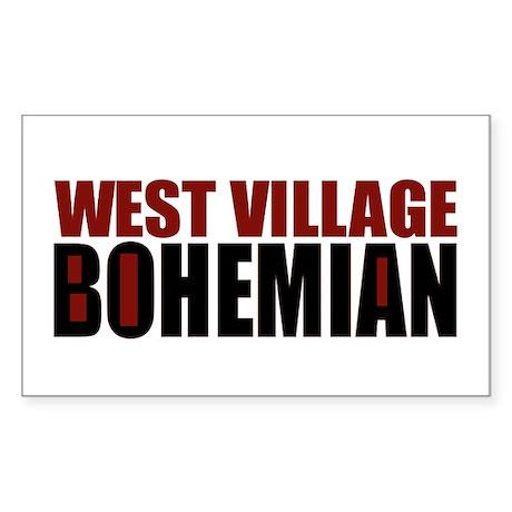 Greenwich Village Bohemian Rectangle Sticker