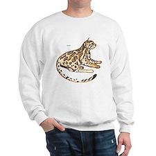 Ocelot Wild Cat Sweatshirt