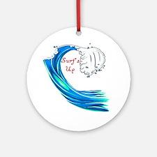 Surfs Up Ornament (Round)