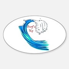 Surfs Up Oval Decal