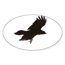 Crow Oval Sticker