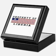 Property Of Liberia Keepsake Box