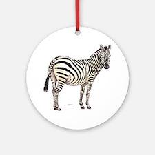 Zebra Animal Ornament (Round)