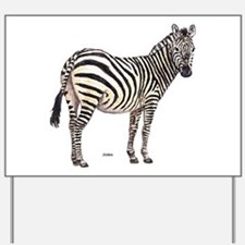 Zebra Animal Yard Sign