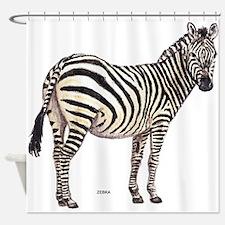 Zebra Animal Shower Curtain
