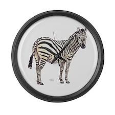 Zebra Animal Large Wall Clock