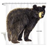 Black bear Shower Curtains