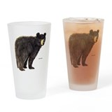 Black bear Pint Glasses