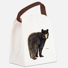 Black Bear Canvas Lunch Bag
