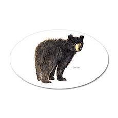Black Bear 35x21 Oval Wall Decal