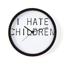 I Hate Children Wall Clock