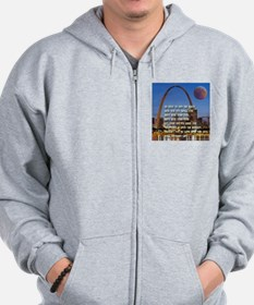 Go West To Join The Quest Zip Hoodie