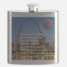 Go West To Join The Quest Flask