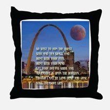 Go West To Join The Quest Throw Pillow