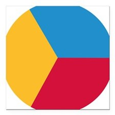 "pie_chart_same_size Square Car Magnet 3"" x 3"""