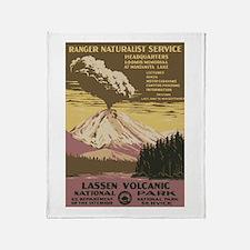 Lassen Volcanic Throw Blanket