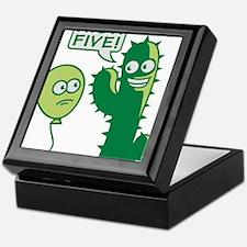 cactus_high_five Keepsake Box
