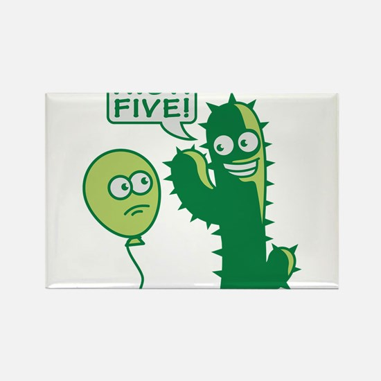 cactus_high_five Rectangle Magnet