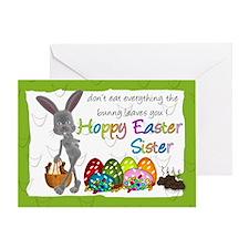 Sister Fun Humorous Easter Greeting Card