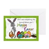 Easter bunny Greeting Cards (10 Pack)