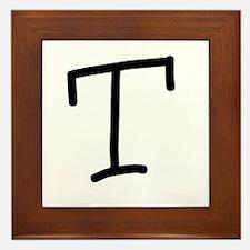 Bookworm Monogram T Framed Tile