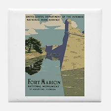 Fort Marion Tile Coaster